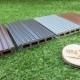 WPC: bei uns in vier Farben und vier Oberflächen