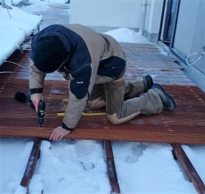 Bau der Holzterrasse