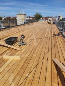 Dachterrassen und Begrünung von Dächern.
